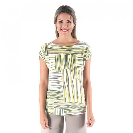 Blusa estampada verde 100% viscosa Dona Kolors