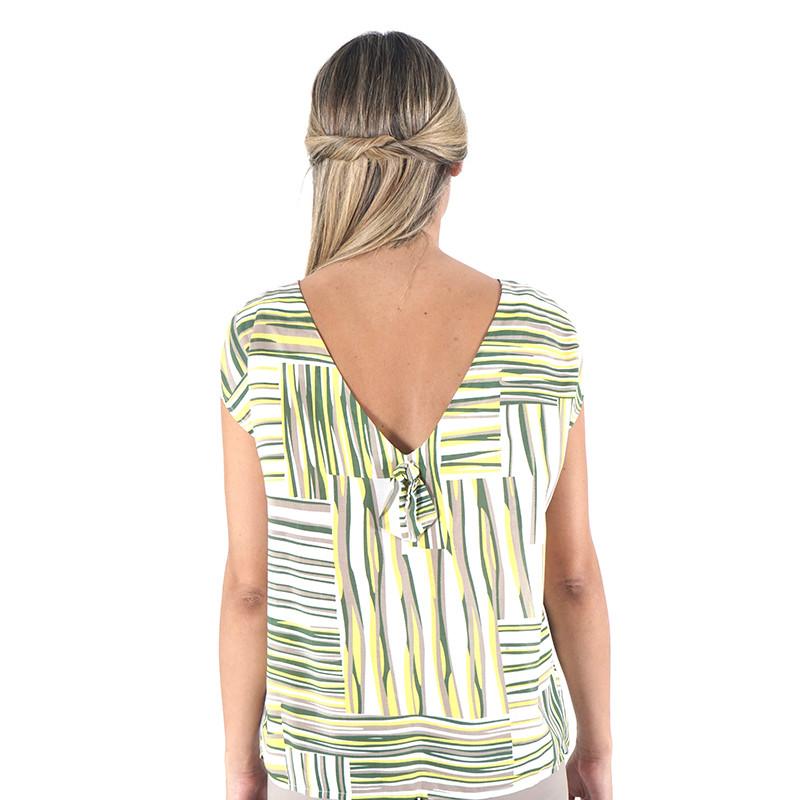 Blusa estampada verde 100% viscosa