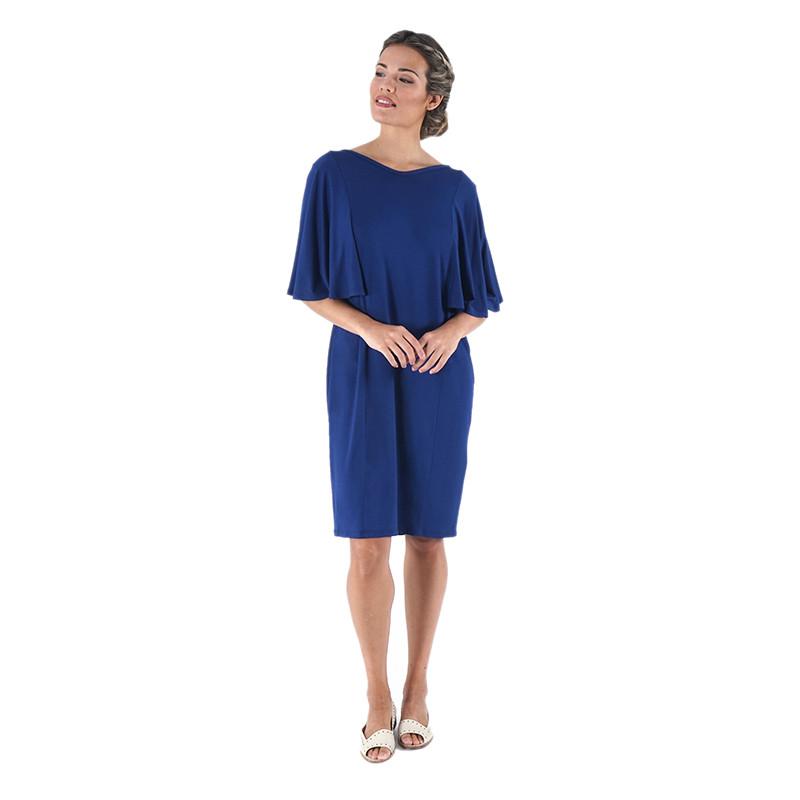 Vestido de punto azul