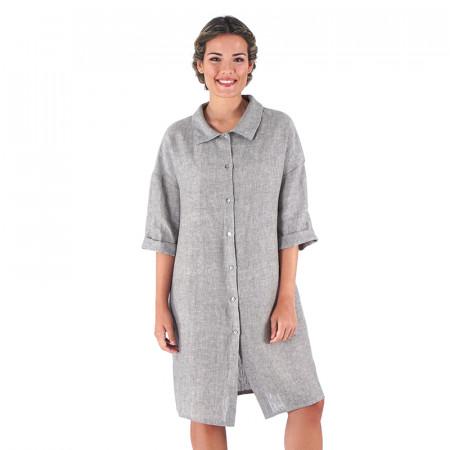 Greenish linen dress Sese