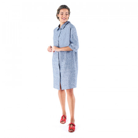 Blue linen dress Sese