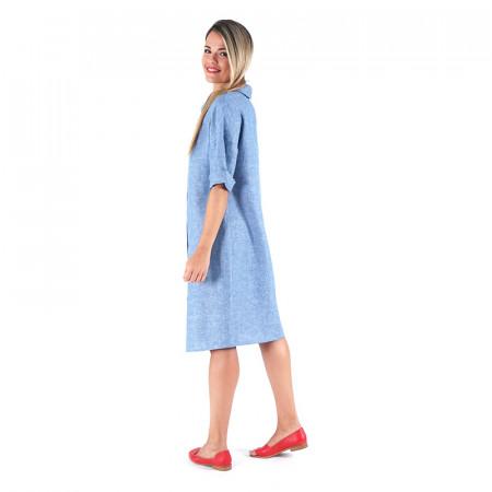 Vestit de lli blau indi Dona Kolors