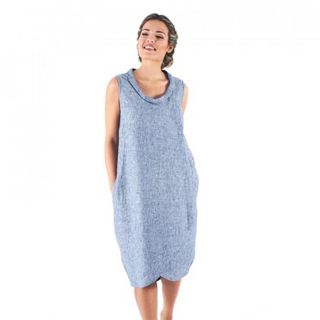 Vestit 100% lli blau