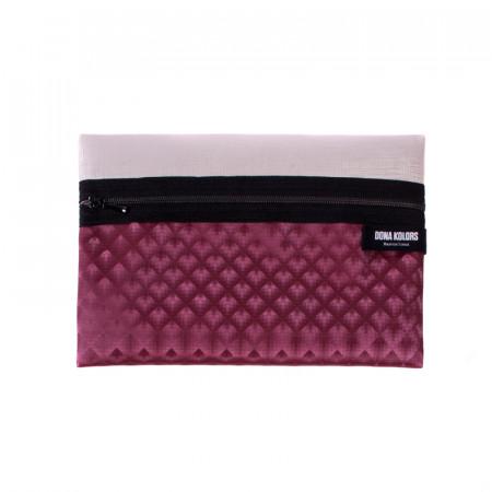 Necesser rectangular burdeos Dona Kolors