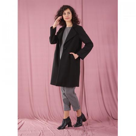 Abrip de drap negre amb butxaques