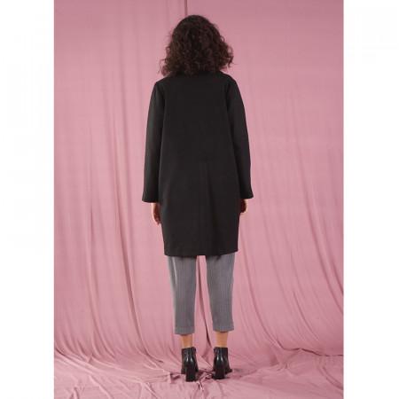 Abrip de drap negre amb butxaques Dona Kolors