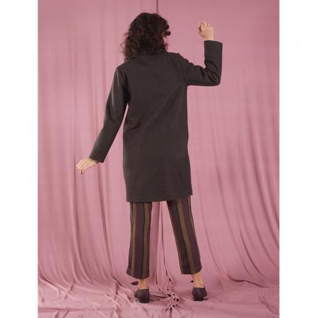 Abrip de drap verd fosc amb butxaques Dona Kolors