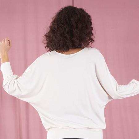 Samarreta blanca de viscosa amb puny