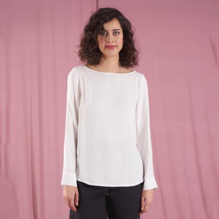 Blusa blanca de viscosa