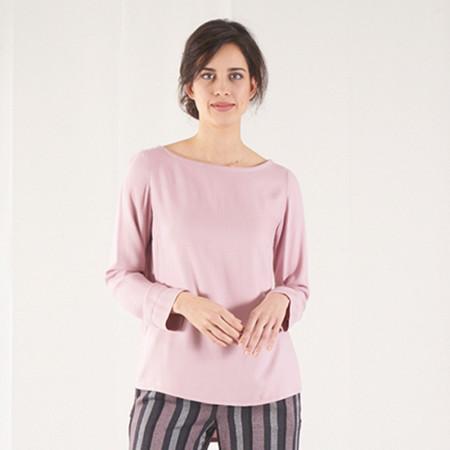 Blusa rosa de viscosa Dona Kolors