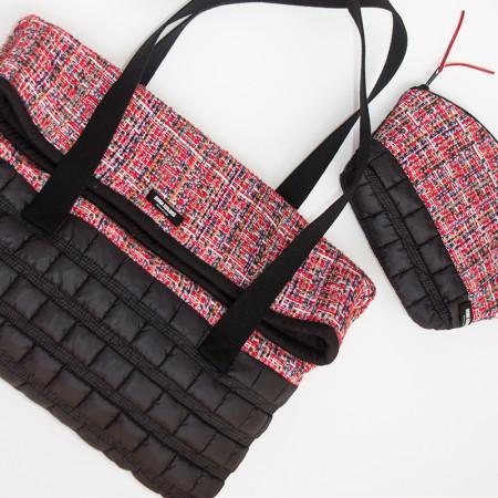 Red and black handbag Orquidea