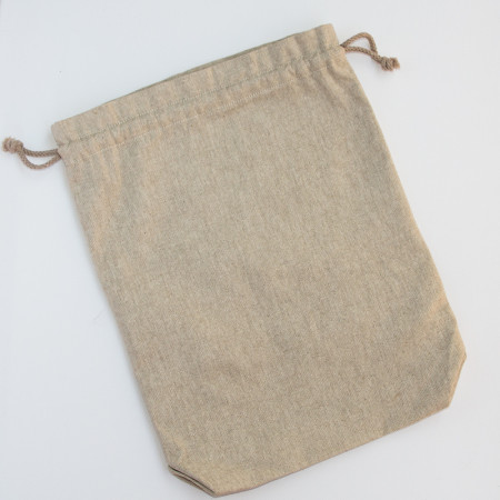 Bolsa de tela beige para compras a granel
