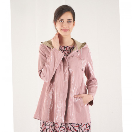 Pink waterproof trench coat...