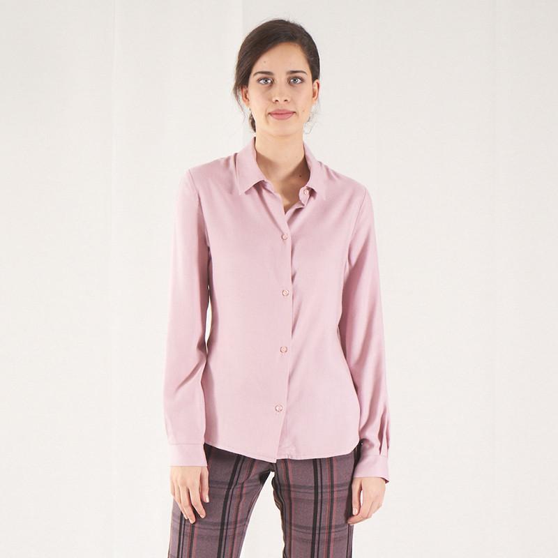 Blusa camisera rosa