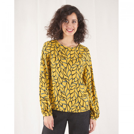 Ocher blouse Mela