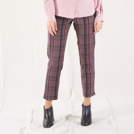 Pink ang grey striped...
