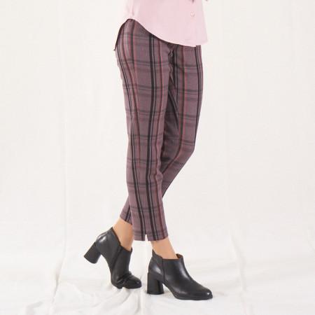 Pantalón pitillo a rayas rosas y grises Dona Kolors