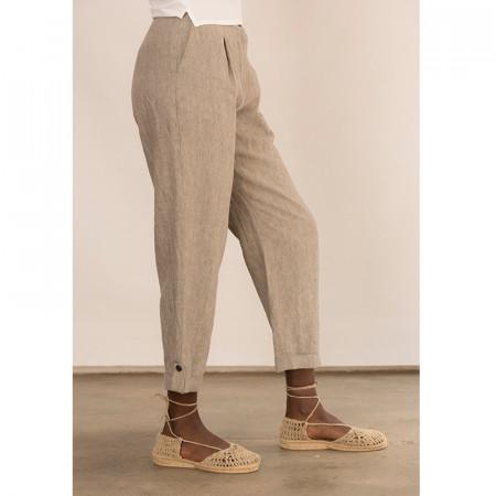 Pantaló corsari kaki de lli