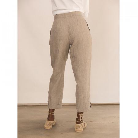 Pantalón corsario kaki con bolsillos Dona Kolors