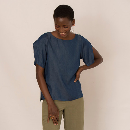 Blue blouse Atena