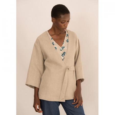 Natural sand color jacket Biko