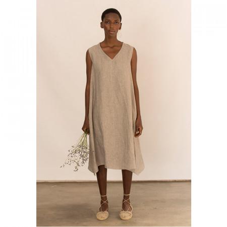 Kaki linen dress Dionisio
