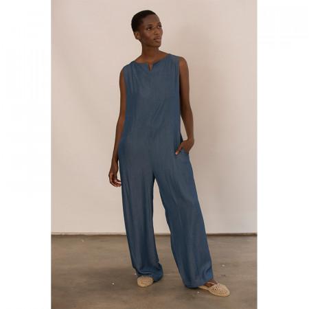 Blue jumpsuit Merino