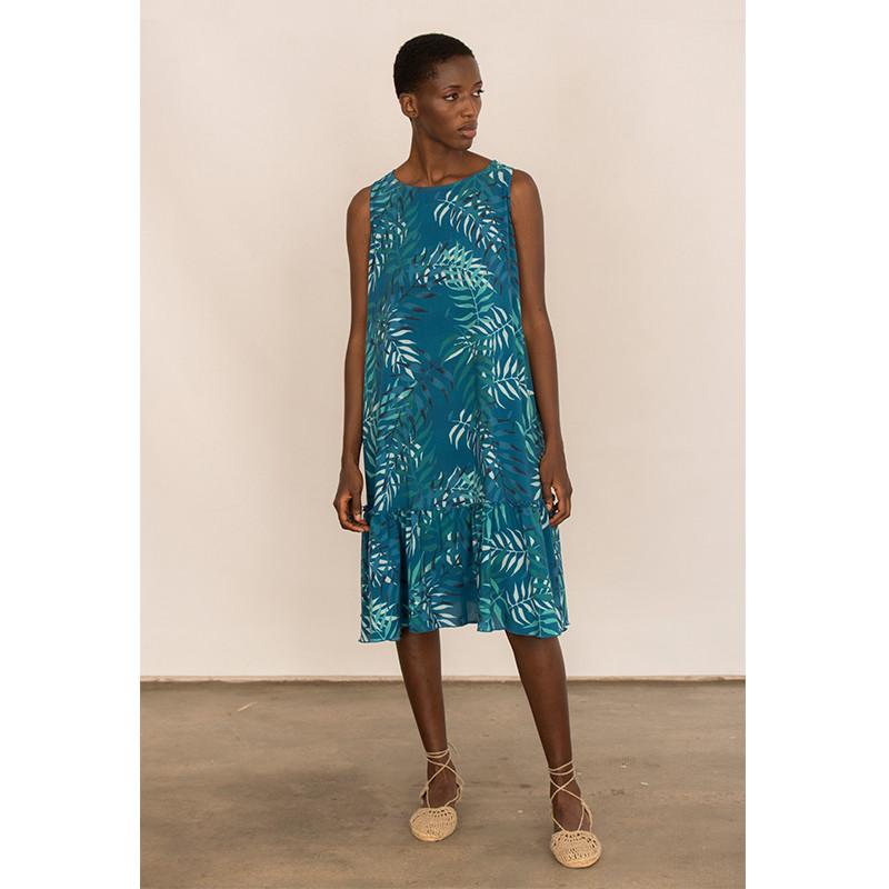 vestido estampado propio de viscosa
