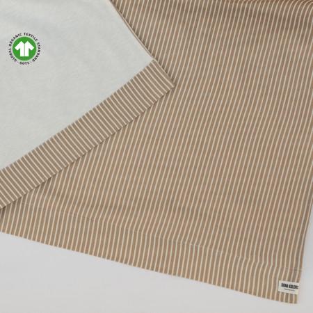Tovallola de platja de lli i cotó orgànic certificat GOTS