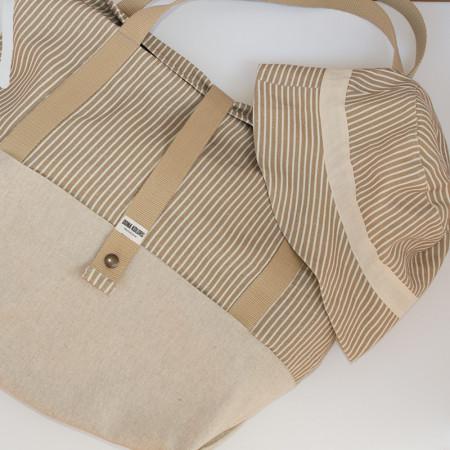 Conjunto de bolsa de playa + gorro de playa reversible