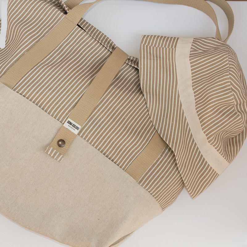 Pack bossa de platja + gorro de platja reversible