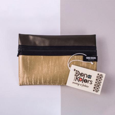 Necesser rectangular en tons daurats